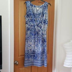 Sleeveless wrap type sun dress